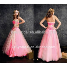 Pink & lace & pleats arabic style dress dress 2015