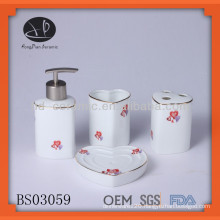 heart shaped ceramic bath set