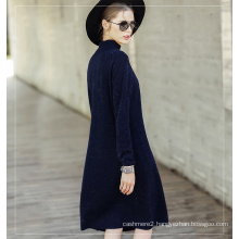 Women′s Cashmere Dress with Round Neck (13brdw099)