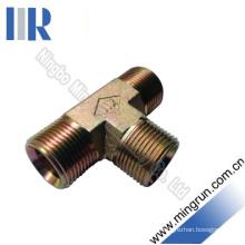 Bsp Male Hydraulic Tee Adaptor Tube Connector Hydraulic Fitting (AB)