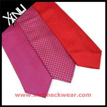 Cravate faite sur commande en soie tissée italienne de coutume de Polka Dots