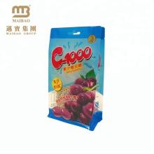 Sacs sucrés adaptés aux besoins du client de bloc d'emballage de BOPP d'OPP de place d'emballage alimentaire transparent de côté de côté