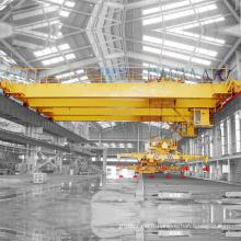 Grue magnétique de pont de double poutre d'usine en acier