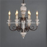 used vintage wood bead chandelier lighting