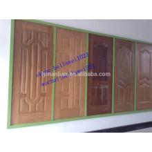 Fábrica da pele da porta do folheado da madeira de HDF