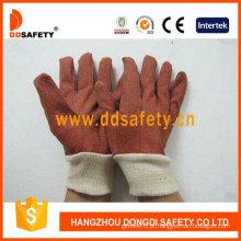 Luvas de jardim de PVC com pulso de malha branca (DGP110)