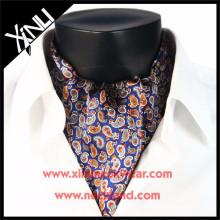 Оптом шелк печатный ascot галстук галстук мода носит для мужчин