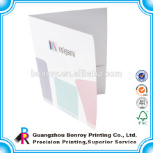 Cheap printing custom colorful paper promotional folder pockets
