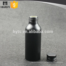 100ml matte black printing aluminum spray bottles with screw matte black cap