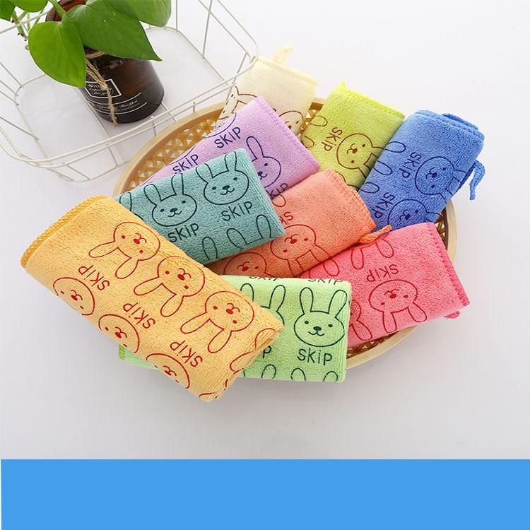 Nano microfiber square towel hand towel face towel child towel kindergarten gift 2525 activity gift (10)