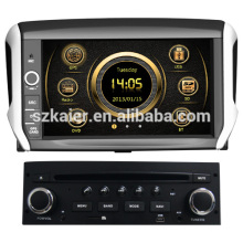 L'écran tactile wince voiture GPS pour Peugeot 208 avec GPS / 3G / DVD / Bluetooth / IPOD / RMVB / RDS