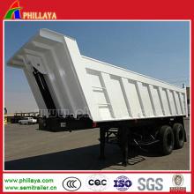 Stahlmaterial-hydraulischer LKW-Kipper-Anhänger mit 40tons
