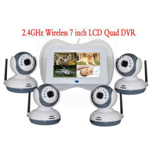 4+Channels+Digital+Wireless+7%22Baby+Monitor+DVR