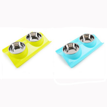 Customized for Dog Collar Pet Double Plastic Bowl Dog Drink Bowl export to Ecuador Wholesale