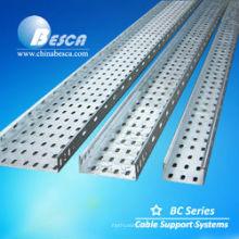 Tamaños de bandejas de cables eléctricos ventilados galvanizados (UL, cUL, SGS, IEC, CE, ISO)