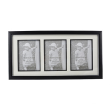 Black with Silver Line Frame with 3 Opening for Home Decoration