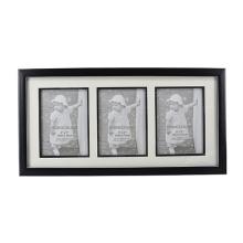 Preto com moldura de linha de prata com 3 abertura para decoração para casa