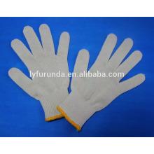 7gauge natürliche weiße Baumwollstring Arbeitshandschuhe 55g