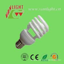 Meia espiral T2-13W CFL lâmpada, lâmpada de poupança de energia