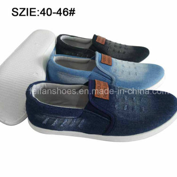 Latest Fashion Men′s Shoes Slip on Casual Canvas Shoes (MP16723)