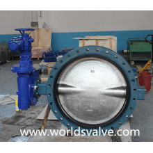 Ductile Iron Ggg40 Worm Gear Double Flanged Butterfly Valve (D41X-10/16)