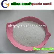 areia branca de areia de sílica / quartzo / areia de quartzo