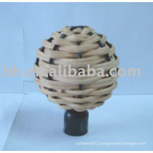 rattan curtain finial