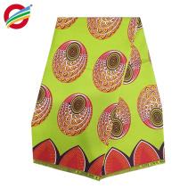Imprimé africain de cire de polyester pur tissu tissé utilisé pour la vente