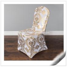 Hochwertige 200gsm verschiedene Arten kundengebundene Lycra Stuhl-Abdeckungen für Verkauf