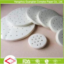 Papel de vapor antiadherente reutilizable revestido de silicona para vapor de bambú