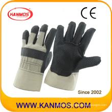 Schwarze PVC-punktierte Arbeitsschutzhandschuhe (41016)