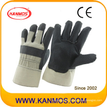 Black PVC Dotted Industrial Safety Work Gloves (41016)