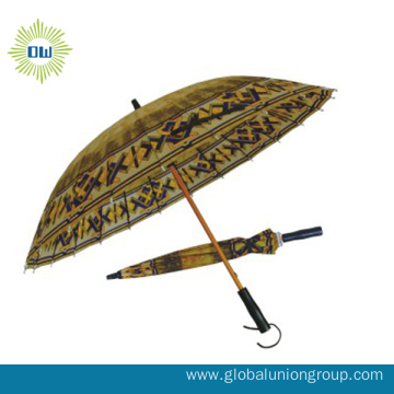 Wooden Shaft Straight Umbrella