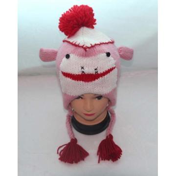 Niños de diseño de dibujos animados encantadora tejer sombrero animal