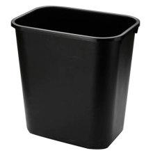 Cesta de papel plástico negro