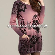 12STC0637 padrões de tricô blusas de lã das mulheres