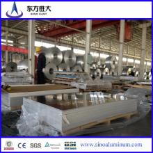 Prix d'usine de 3003 feuille d'aluminium revêtu de PE