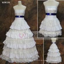 RSW258 Königsblau und Weiß Brautkleider
