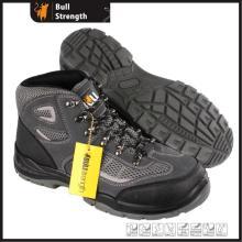 PU/PU novo molde sapato de couro camurça com biqueira de aço (SN5503)