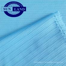 tissu polyester antistatique léger pour vêtements de sécurité ou fabrication de sous-vêtements électroniques