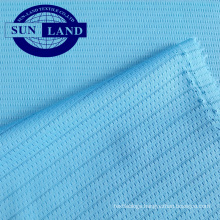 light weight anti-static polyester fabric for electronics factory safety wear or making underwear