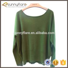 suéter flojo del cuello redondo llano que hace punto el suéter de la cachemira para las señoras