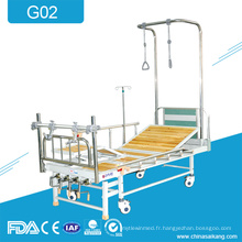 Lit de produits de réadaptation de traction orthopédique médicale de G02 4-manivelle