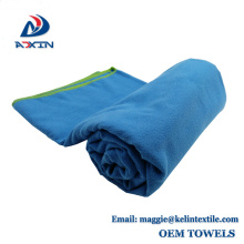 China Supplier Custom 50x100cm Travel Sport Suede Microfiber Towel