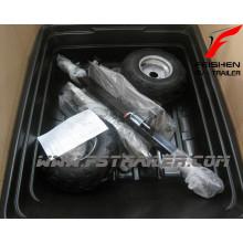 Порошковым покрытием сад трейлер с прицепом пластиковый лоток/ATV прицеп/ферма