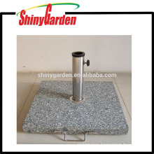 patio square marble umbrella base with side handle