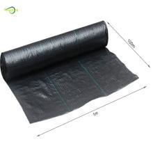 black weed control mat