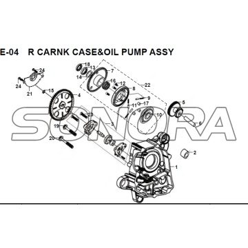 E-04 R CARNK CASE OIL PUMP ASSY JET 14 XS175T-2 Per SYM Spare Part Top Quality