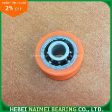 Roda de borracha pequena de boa qualidade com rolamentos 608 rodas de rolamento