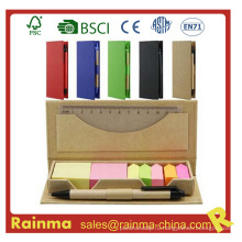 Цветовая палитра Memo Pad с ручкой и линейкой